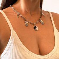 Chokers Skull Choker Necklace 여성용 가십 펜던트 레트로 쥬얼리 체인.