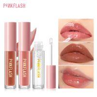 PinkFlash Lip Gloss Base Gel sempre brilhante labial labelo shine shimmer limpar lipgloss alto hidrato refrescar cuidados com a pele