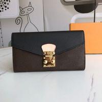 Hoge kwaliteit luxe ontwerper portemonnee handtas clutch tas mode S-vormige slot sluiting lange portefeuilles reliëf kaarthouder portemonnee