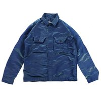 Topstoney 2020FW Konng vonng 봄과 가을 새로운 남성 자켓 금속 나일론 다채로운 기술 패브릭 옷깃 코트 멋진 지퍼 Jacket_JD
