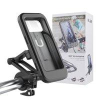 자전거 자전거 오토바이 전화 홀더 접는 360도 회전 핸드폰 GPS 마운트 방수 케이스 아이폰 삼성 갤럭시 안드로이드