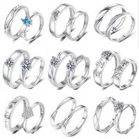 Men and Women's Lovers Ring Plated S925 Sterling Sier H, Mouth, Quit, Live, Tiktok, Live.