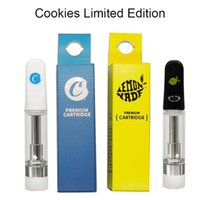 Cookies Limited Edition Vapes Pens Cartridges Ceramic Coil Atomizer Empty Oil Cartridge 0.8ml 1.0ml Cart 510 Atomizers Glass Tank Carts Ecig Boxes Packaging