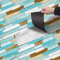 Wall Stickers DIY Thick PVC Wood Floor Bedroom Bathroom Waterproof Wear-Resistant Wallpapers Decorative Self-Adhesive