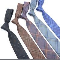 Bow Ties Fashion Neckties Classic Men's Plaid Yellow Purple Black Wedding Jacquard Woven Polyester Men Solid Tie Polka Dots Neck