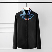 Men's Casual Shirts Mens Luxury Chinese Style Embroidery Long Sleeve Dress Plus Size 4xl Fashion Party Wedding Man