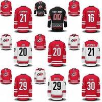 Jóvenes Carolina Hurricanes Jersey 20 Sebastian AHO 21 Lee Stempniak 28 Alexander Semin 29 Andrew Poturalski 53 Jeff Skinner Hockey Jerseys