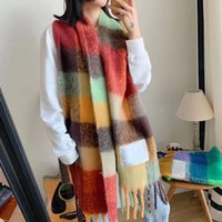 Designer Scarf Womens Luxury Scarves Autumn and Winter Warm Outdoor rainbow Plaid Scarfs 8 Colors Top Quality