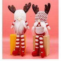 Gnome sans visage de Noël Santa Xmas Arbre suspendu Ornement Poupée Décoration Accueil Pendentif Cadeaux Drop Ornements Fournitures CCB8976