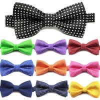 Bow Ties Fashion Children Formal Cotton Tie Kids Classic Dot Bowties Colorful Butterfly Wedding Party Bowtie Tuxedo