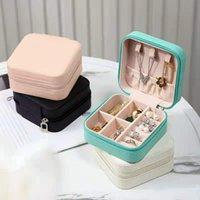 한국 가죽 보석 주최자 보관 상자 여행 대용량 다층 서랍 화장품 무료 배달 FHL429-WY1609