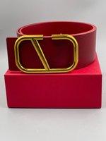 2021 Herren Designer Gürtel Damen Leder Leder Schwarz Rot Große Gold Schnalle Klassische Freizeit Luxus Gürtel und Geschenkbox