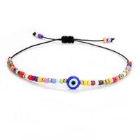 Fashion Seed Beads Evil Blue Eye Rope Chain Bracelet Handmade Woven Elephant Tortoise Life of Tree Bracelets for Women Men Couple Friendship Jewelry Gifts