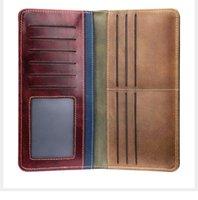 Wallets Men's Wallet Genuine Leather Purse For Men Man's And Handbags Luxury Designer Card Walet 202