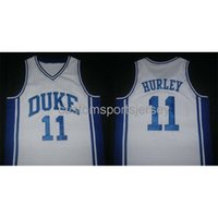 Shisted Custom Duke College College Bobby Hurley Home Classics Баскетбол Ретро Джерси NCAA Мужские баскетбольные майки