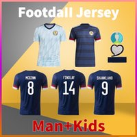 Schottland Home Away Fussball Jersey 20 21 McGregor Robertson Fraser Naismith Christie Forrest McGinn Football Shirt Männer Tshirts + Kinder Kit Uniform