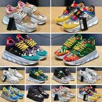 Versace Chain Reaction Cross Chainer de alta calidad nuevo cojín de gamuza casual al aire libre que camina zapatos 90 hombres para mujer barato zapato tamaño 36-46 envío gratis