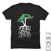 남자 티셔츠 나무 뿌리 조각 티셔츠 100 % 코 튼 매시업 디자인 로그인 Nerd Geek Art Up NY Funny