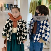 Down Coat Bear Leader Winter Version Of Thickened Jacket Boys And Girls Diamond Plaid Cardigan Cotton Baby Boy Clothes