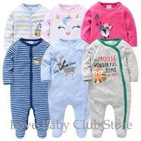 Jumpsuits Born Boys Romper 3pcs pack Infant One-Pieces Baby Clothes SleepWear Spring Autumn Winter Soft Jumpsuit