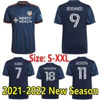 2021 2022 FC Cincinnati Futebol Jerseys Brenner Acosta Camisas De Futebol Kubo Amaya A.Cruz Matarita Garza Primary Home 21 22 Maillots de Futol