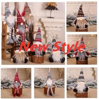 DHL Ship Christmas Ornament Knitted Plush Gnome Doll Christmas Tree Wall Hanging Pendant Holiday Decor Gift Tree Decorations