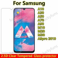 2.5D Clear Tempered Glass Phone Screen Protector For Samsung Galaxy A10 A20 A20Core A20E A30 A40 A50 A60 A70 A80 A90 A10E A9 PRO