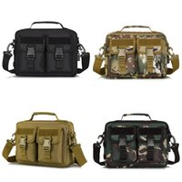 USB Molle Tactical Crossbody Messenger Bag Militaire Camping Ao Ar Livre Exército Exército Assualt Chest Bag 166 x2