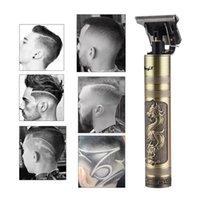 USB充電式T9理髪師はハサミのかかりにかけられたヘアクリッパーの電子剃毛機械トリマーコードレスシェーバー0mm男性