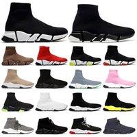 2021 Hombres Classic Sock Zapatillas 2.0 Plataforma Triple Triple Negro Blanco Beige Rojo ClearSole Amarillo Fluo Bule Flat Plica Moda Moda al aire libre
