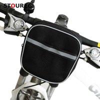 Cesta de bicicleta, saco na bicicleta do volante, saco do guiador da bicicleta, saco dianteiro preto dos acessórios da bicicleta dos acessórios da bicicleta
