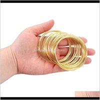 Perlenwerkzeuge 100Loopslot 06mm Speicher Stahl Perlendraht für DIY Schmuck Erkenntnisse Bangle Armband Zubehör Zubehör Liefert WMTEXS YA86 0GNKA