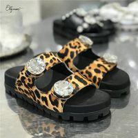 Lalymurs neue mode stil frau sommer hausschuhe open toe kristall frauen schuhe flache hausschuhe lässig bequeme schuhe frau q5al #