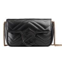 Luxury Designer Shoulder Bag Women Chain Crossbody Lady Fashion Marmont Bags PU Genuine Leather Handbags Purses Backpack tote Mini version