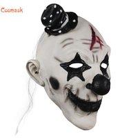 Party masken kosmask halloween deluxe unheimlich hut clown maske erwachsene latex weiß haar böse killer au für