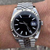 U1 relógio automático mecânico 41mm data de aço inoxidável safira impermeável super luminosa fivela original mens relógio