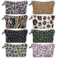 Cosmetic Bag Leopard Printing Makeup Ladies Waterproof Storage Fashion Travel Pouch Wallets Totes Handbag Hha1736