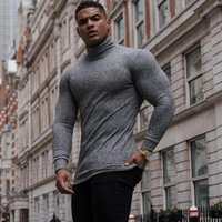 Men's Sweaters Autumn Winter Fashion Turtleneck Mens Thin Casual Roll Neck Solid Warm Slim Fit Men Pullover Male