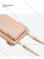 Women Men Long Hand Wallet Large Capacity Cell Phone Pack Zippered One-shoulder Crossbody Fashion PU Sport Slinky Crossing Trend INS Bag Pink 3t