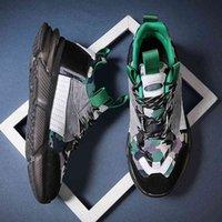 Neue Männer Turnschuhe Dicke Sohle Plattform Daddy Schuhe Leder Nähen Laufschuhe Für Mann Chunky Outdoor Walking Schuhe