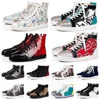 С коробкой 2021 Luxurys дизайнеры красные днища обувь для мужчин Женский размер 5-13 дизайнерская платформа плоская повседневная обувь мода роскошные мокасины кроссовки 47