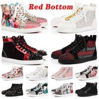 Con scatola desinger Red Bottoms Platform Studded Spikes loafers Red Bottom Designer Scarpe casual da ginnastica da donna da uomo di marca di lusso