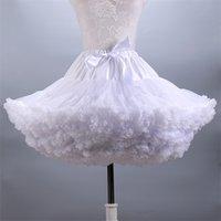 Flauschiger Frauen Tutu Rock Erwachsene Tüll Kurzer Petticoat mit Rüschen 12 Farben 210330