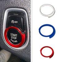 Car Interior Start Stop Engine Button Frame Ring Stickers Trim Fit For BMW 1 2 3 X1 X3 X5 X6 series F20 F21 F30 F48 F25 F15 F16 Auto Accessiores