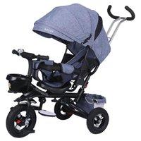 Multifuncional dobramento pode sentar e mentir triciclo infantil criança carrinho de bebê bicicleta reclinável assento espaço três rodas crianças bicicleta presentes #