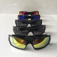 الصيف الرجال الكلاسيكية النظارات السوداء إطار العلامة التجارية الشمس نظارات شمس عدسة أكريليك دراجة الدراجات انبهار لون النظارات