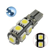 50Pcs White T10 W5W 5050 9SMD LED Canbus Error Free Car Bulbs For 192 168 194 2825 Clearance Lamps License Plate Lights 12V