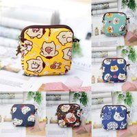 New Hefeng Square Key Ring Canvas Cotton Aunt Towel Storage Cosmetics Bag Zero Wallet 54O1