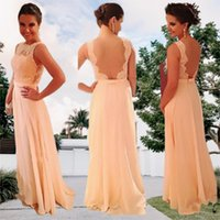 A Line Chiffon Long Bridesmaid Dress Lace Applique African Junior Maid of Honor Pink Wedding Guest Party Sister Dresses