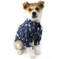 Designer Pet Dog Apparel British, Style Shirt Printed Denim Spring And Summer Fashion Brand Clothes With Two Legs For Middle Small Cat Dogs